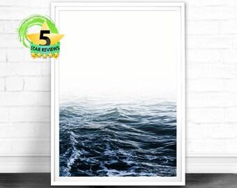 Ocean Photography Print, Ocean Print, Ocean Waves Art Print, Large Wall Art, Ocean Wall Art, Blue Wave Print, Water Print, Ocean Art Print