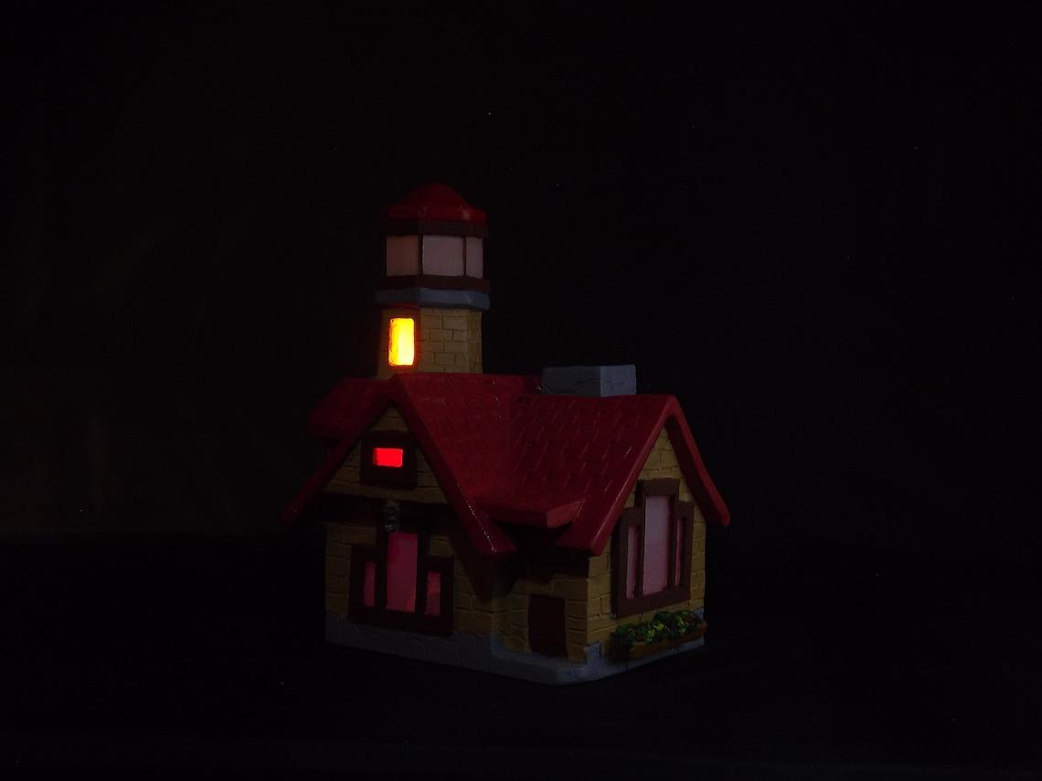 Ceramic House Handmade Glass Lighthouse Ceramic Clay Art Ceramic Lighthouse Lamps Lighthouse Decor Handmade Ceramic Art