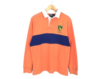 96ac88c0246d8 Vintage Polo Ralph Lauren Embroidery Striped Long Sleeve Shirt Polo