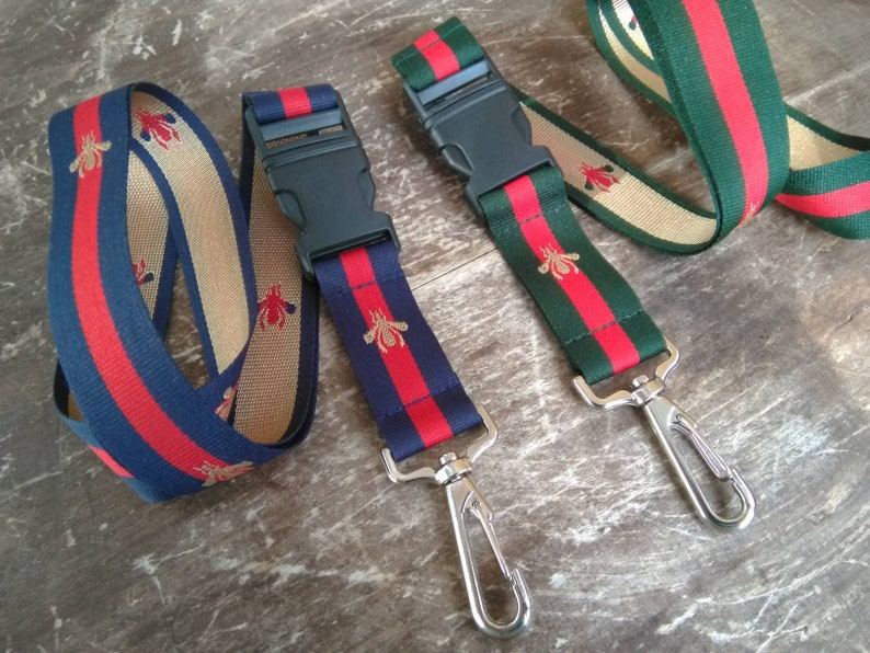 6abd2a794db2 Set of 2 Designer Key Lanyards Gucci Inspired | Etsy