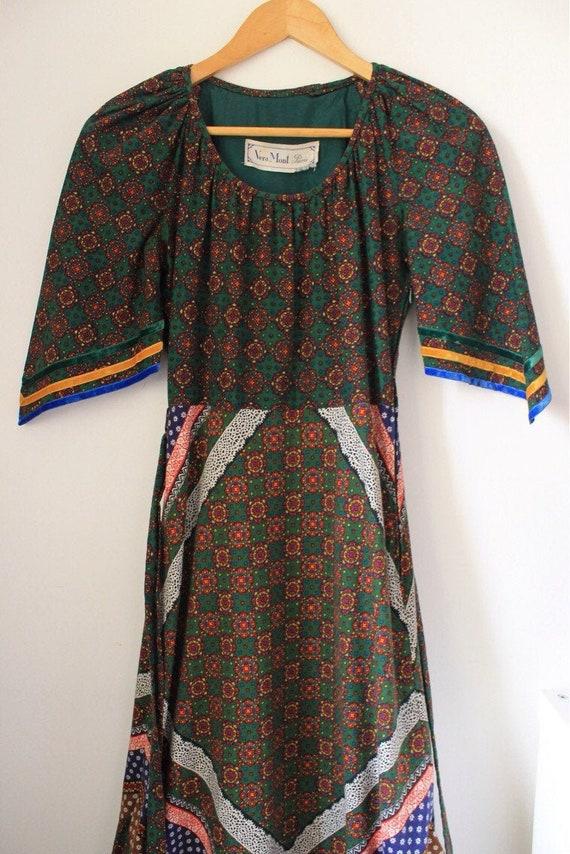 Vintage dress - 1970s dress - Maxi dress - Floral