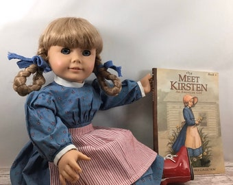 KIRSTEN/'S MEET BONNET and POST CARD~Authentic American Girl~Red /& White~Retired