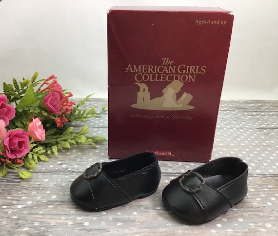 """American Girl 18/"""" Doll Felicity Retired Original Meet Outfit Black Shoes ONLY"""