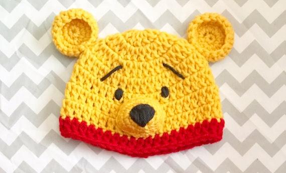 Cadeau de shower de bébé bonnet Winnie lourson chapeau au   Etsy 5a6e157d2bb