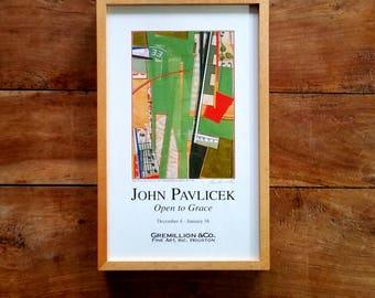 John Pavlicek Signed Art Gallery Lithograph, John Pavlicek Art, Modern Art, Signed Prints