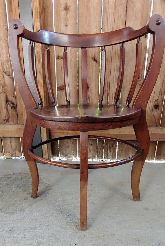image 0 - Antique Mahogany Curved Corner Chair Antique Chairs Wooden Etsy
