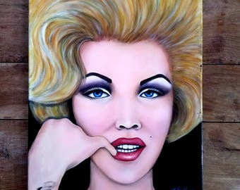 Marilyn Monroe Painting by Sollock, Marilyn Monroe Art, Modern Art, American Art,  Marilyn Monroe,  Pop Art, Original Art