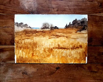 Watercolor Painting By Chatham, Original Art, Watercolor Painting, Landscape Painting, Chatham Artist
