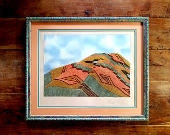 Sally Baker Navajo Print, Navajo Mountain, Deloach Vineyards, Native American Art,  Navajo Art,  Sally Baker Art, Wine Prints