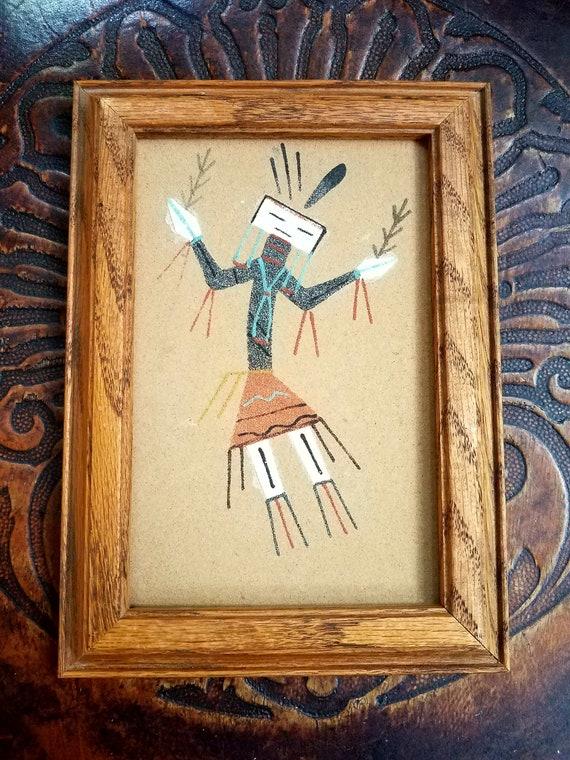 navajo sand painting by yazzie original art navajo art etsy