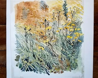 Watercolor Painting by JW Ibbotson, Modern Art, Flower Painting, JW Ibbotson, Original Art, Original Painting