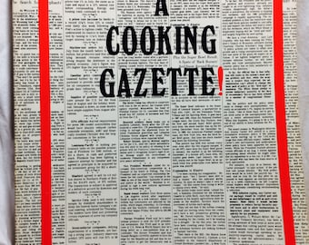 Vintage Cookbook, A Cooking Gazette, Rare Cookbooks, Gulf Coast Recipes, Houston food, Southern Cookbook, Southern Recipes