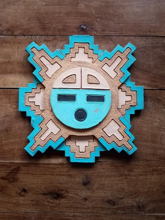 native american clay wall art by leonard jaramillo navajo etsy