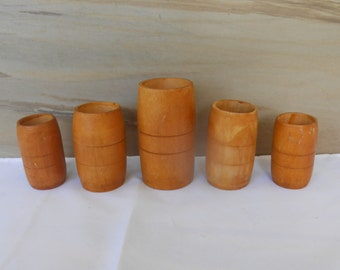 Wooden cups   Etsy