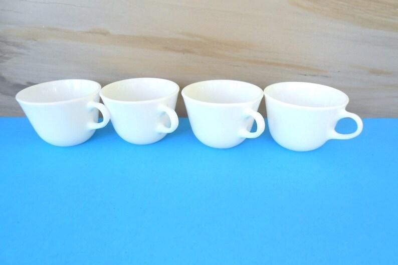 97c80864e96 Vintage PYREX Milk Glass Tea,Coffee Cups,Set of 4 Milk Glass Mugs,Pyrex  White Mugs