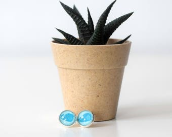 Unique whale earrings silver