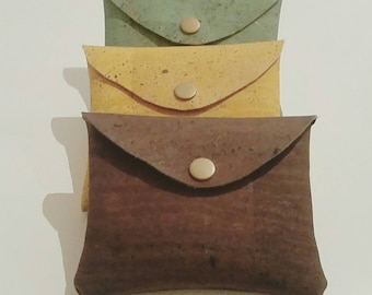 Corkleather wallet/bussinesscardholder