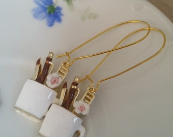 Pencase earrings