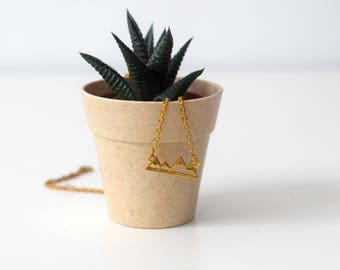 Golden mountain necklace