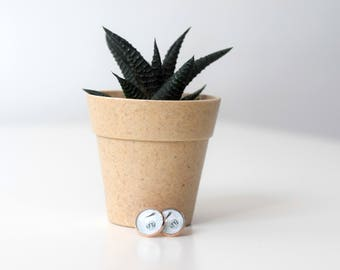 Coffee to go earrings rose gold