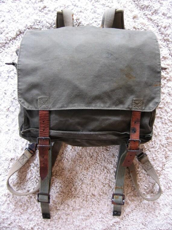 1970s Yugoslavian Army Backpack Shoulder Bag Army