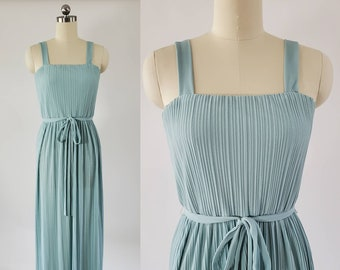 1970s Crystal Pleated Maxi by Bernadette 70's Evening Gown 70s Maxi Dress Women's Vintage Size Medium