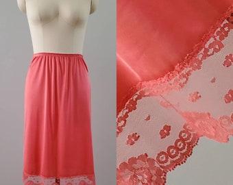 1980's Half Slip by Heiress - Hand Dyed - 80s Lingerie Skirt Slip 80's Women's Vintage Size Large
