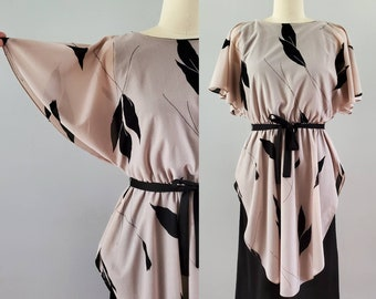 1970s Tunic Dress with Belt - a Lorac Original by Lady Carol - 70s Disco Dress 70's Women's Vintage Size Medium/large