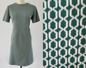 1970s GoGo Dress 70's Mod Shift Dress 70s Women's Vintage Size Large / XL 14/16