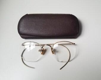 939775ff31d6 Vintage 1920 s Shuron 12k Gold Filled Glasses w  Case 20 s Accessories 20s  Eyewear