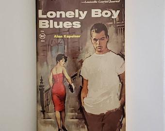 Vintage 1960s Pulp Fiction Paperback Book - Lonely Boy Blues - 60s Home Decor 60's Collectible Books - Belmont Books