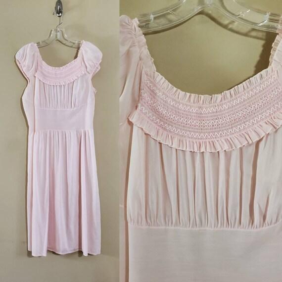 1950's Pink Nightgown by Schrank's 50s Sleepwear 5