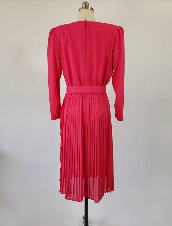 Vintage Hot Pink Henry-Lee Dress with Belt