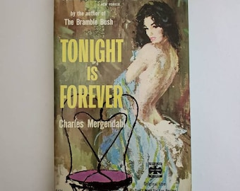 Vintage 1950s Pulp Fiction Paperback Book - Tonight is Forever - 50s Home Decor 50's Collectible Books - Popular Library Book