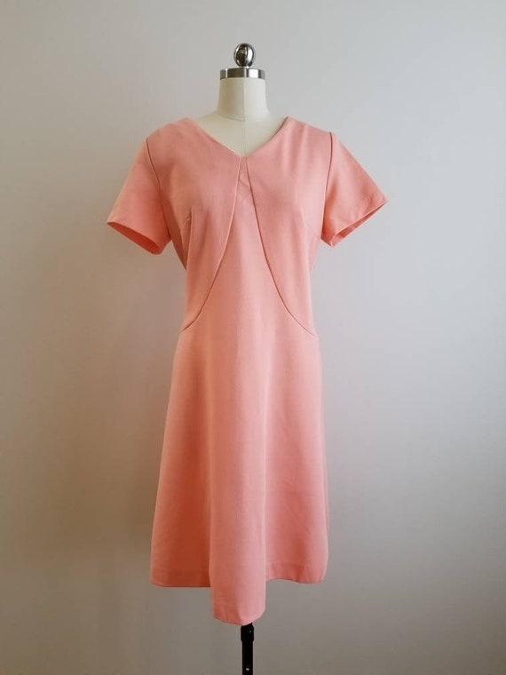 1970's Vintage GoGo Dress in Juicy Peach 70's Boho