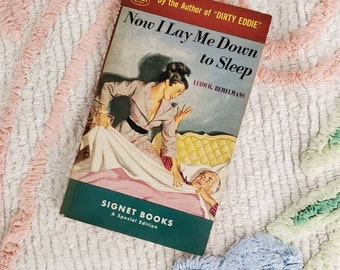 Vintage 1950s Pulp Fiction Paperback Book - Now I Lay Me Down to Sleep - 50s Home Decor 50's Collectible Books - Signet Books