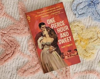 Vintage 1950s Pulp Fiction Paperback Book - One Fierce Hour and Sweet - 50s Home Decor 50's Collectible Books - Popular Library Book