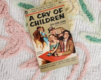 Vintage 1950s Pulp Fiction Paperback Book - A Cry of Children - 50s Home Decor 50's Collectible Books - Popular Giant Book