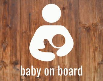 Breastfeeding Decal | Baby on Board | Bébé à Bord