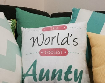 Worlds Coolest Aunty cushion