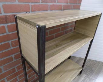 Console Table, Entry, Sofa, Shelf / Industrial / Rustic / Wood / Steel /