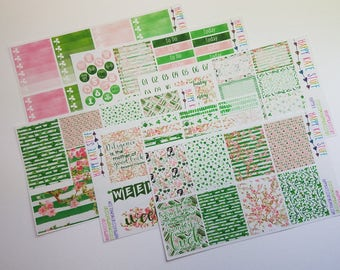 Watercolor Saint Patrick's Day Planner Sticker Kit