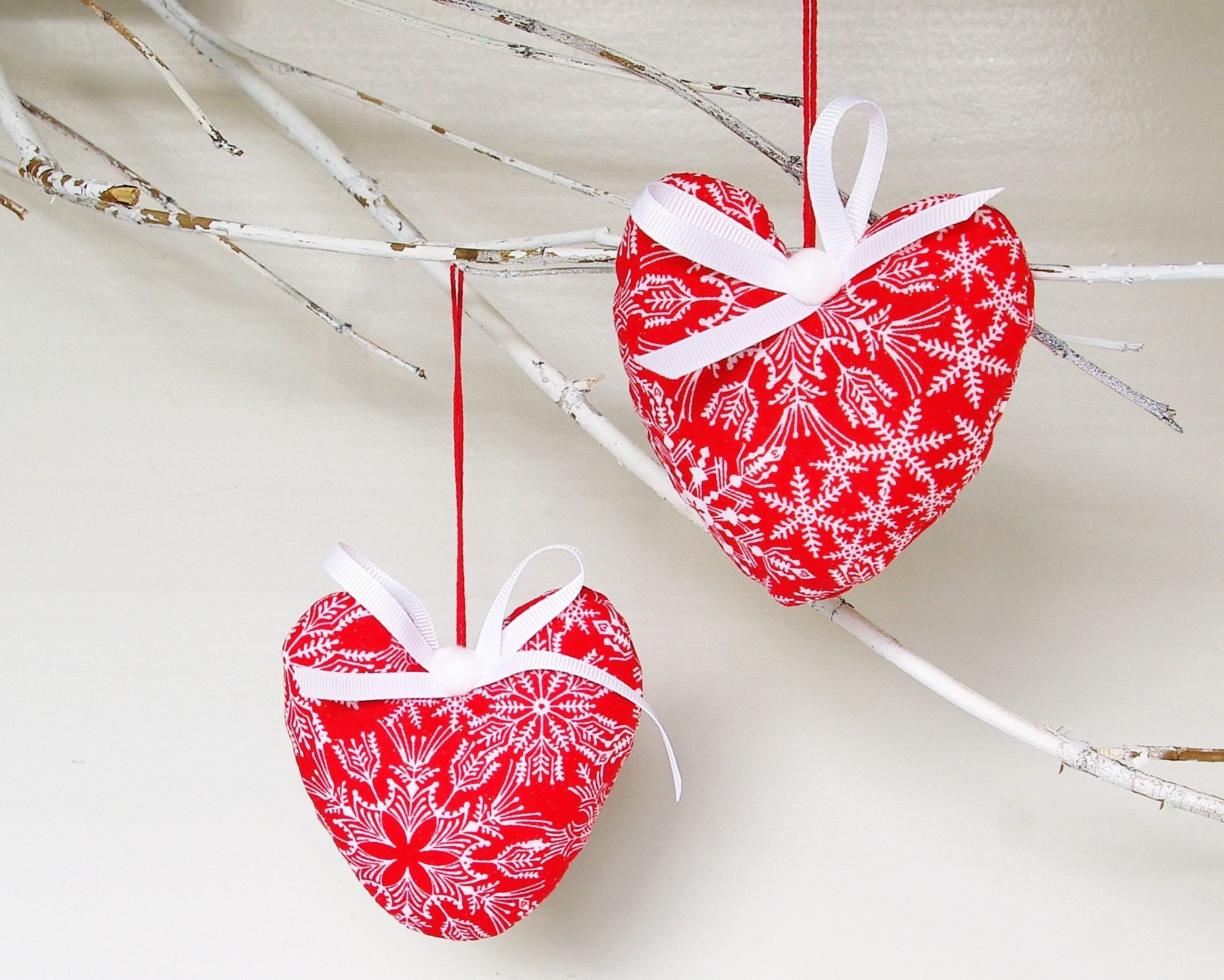 Christmas Heart Christmas Ornaments Two Hearts Gifts for Couples ...