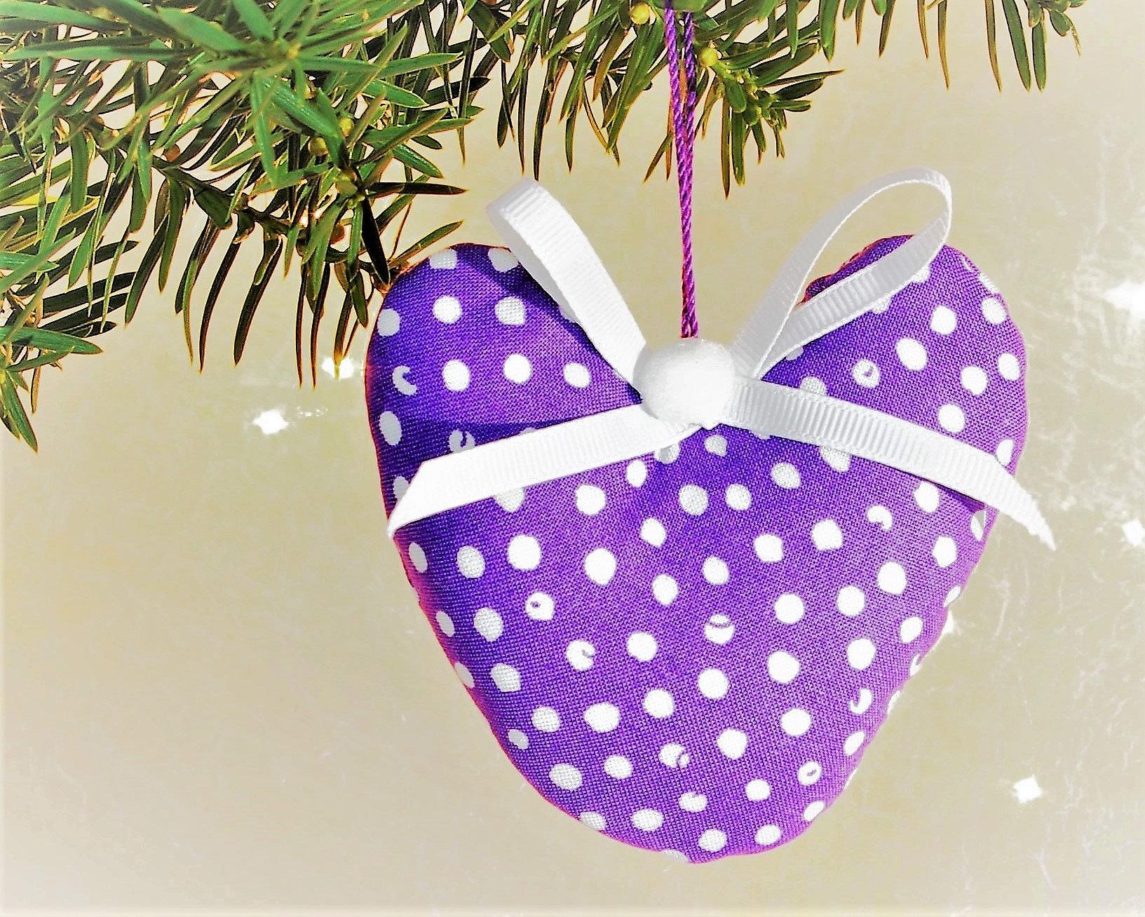 purple christmas ornaments purple ornaments purple heart decorations lilac christmas decorations