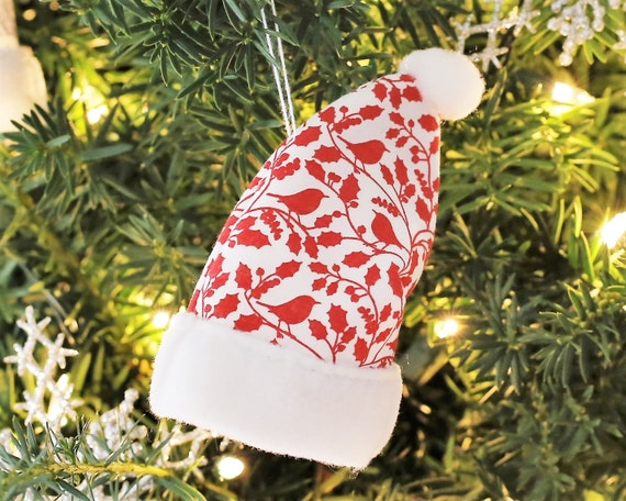 bird bird lover gift scandinavian christmas decorations red bird christmas ornaments nordic christmas decoration scandi christmas decor - Bird Christmas Decorations