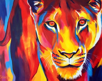 Lioness - Giclee print