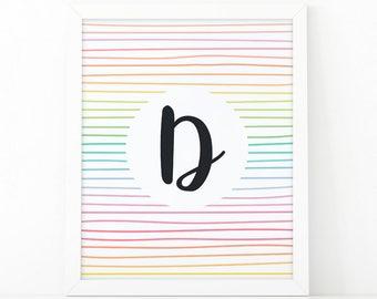Letter D Printable Etsy