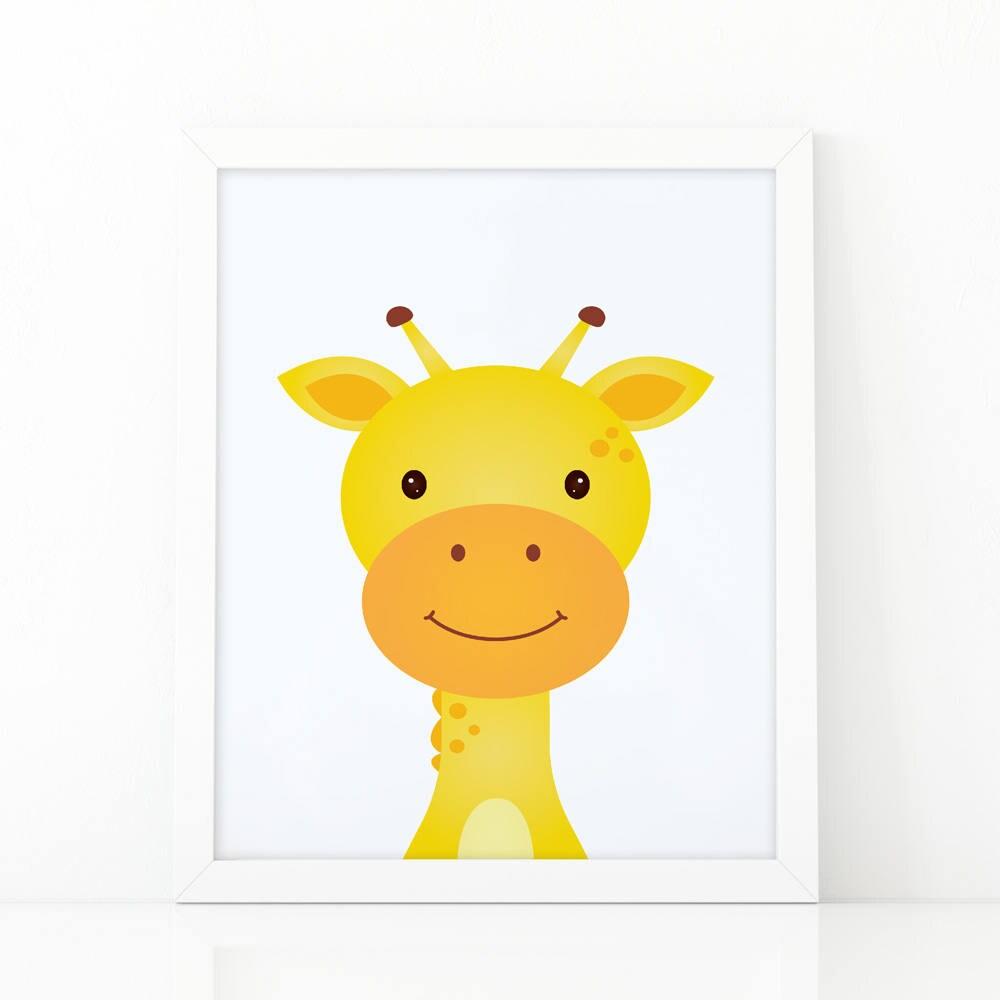 Giraffe Print wall Art Print Instant download Nursery   Etsy