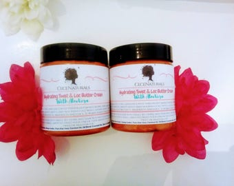 Hydrating Twist & Loc Butter Cream  Whipped Butter Natural Hair Butter Twisting Butter Moisturizing Hair Butter  whipped Shea Butter 
