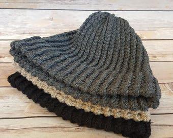100% Wool Beanie Hat, Knitted Wool Hat, Warm Wool Hat, Dock Worker Beanie Hat, Winter Beanie Hats, Wool Beanie Hat, Men's Wool Beanie Hat